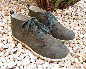 Botinha Alpargata Boots suede verde oliva