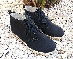 Botinha Alpargata Boots suede preto