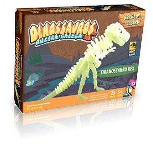 Quebra Cabeça Tiranossauro Rex que brilha no escuro
