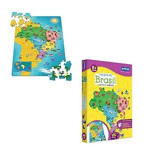 Mapa do Brasil quebra -cabeça