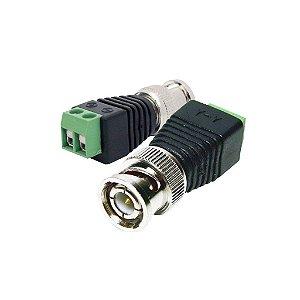 Conector Plug BNC Macho com Borne