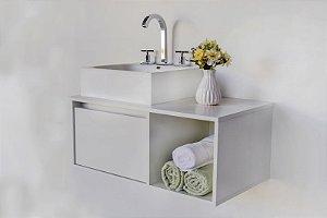Gabinete para banheiro branco