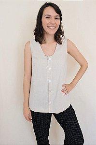 002 - Molde de blusa sem manga com abertura frontal