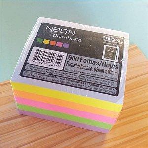 Bloco Tilembrete Neon Tilibra - 600 Folhas