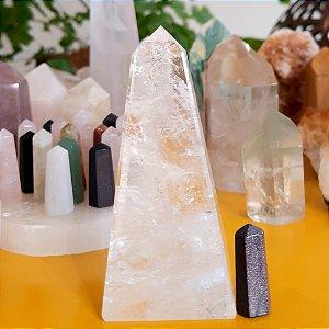 Cristal Obelisco Quartzo Hialino