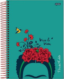 Caderno Universitário Frida Kahlo Viva La Vida Capa Dura - 80 Folhas
