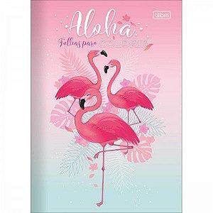 Livro Folhas para Colorir Aloha Flamingo Tilibra