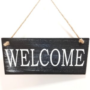 Placa Decorativa Welcome!