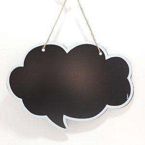 Placa Decorativa Balão de Quadrinhos
