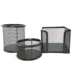 Kit Organizador de Mesa Metal Black