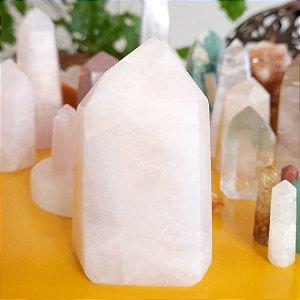 Cristal de Ponta Gerador Quartzo Rosa G