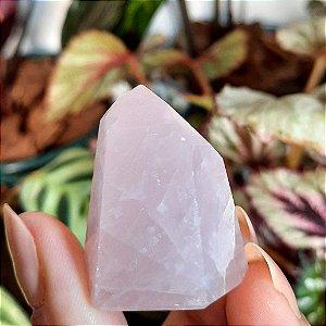 Cristal de Ponta Gerador Quartzo Rosa - Mini