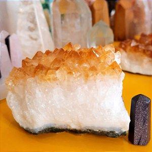 Cristal Citrino Bruto - Drusa Para Colecionador