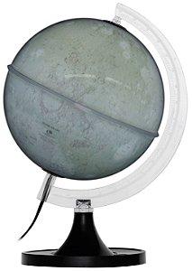 Luminária Lunar - Globo Lua - Base Preta