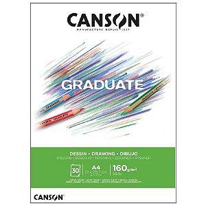 Bloco Canson Graduate Dessin Branco 160g A4 30fls