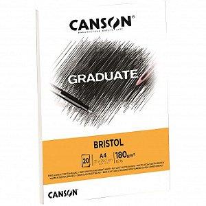 Bloco Canson Graduate Bristol A4 180grs 20fls