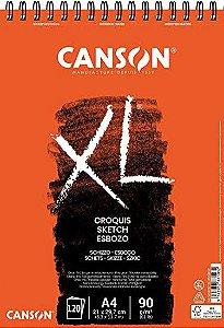 Bloco De Desenho Canson Croquis Xl A4 90g/m² 120 Folhas