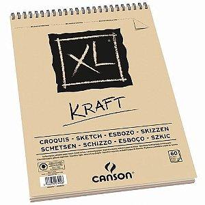 Bloco De Papel Canson Kraft Xl A5 90g/m² 40 Folhas