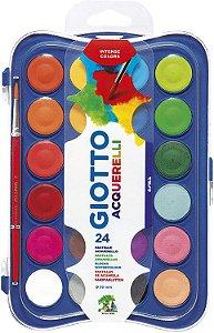 Estojo Aquarela Pastilha Giotto 24 Cores + Pincel