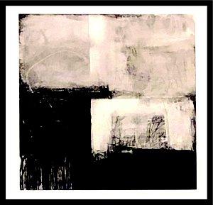 Abstrato Preto e Branco V