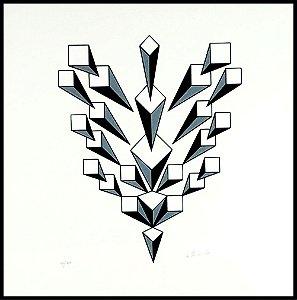 Geométrico Preto e Branco I