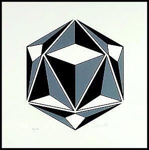 Geométrico Preto e Branco III