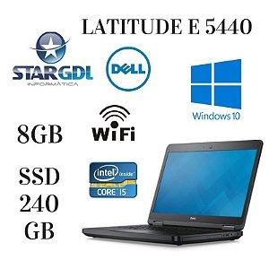 Usado: Notebook Dell Latitude E 5440 8gb Ssd 240gb Windows 10 Core i5 4210u / Semi - Novo / Tela de 14 Polegadas / Wi-fi
