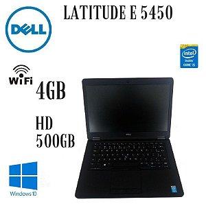 Usado: Notebook Dell Ultrabook Latitude E 5450 Intel Core i5 5200u Windows 10 Pró 4gb Hd 500gb  Tela 14 polegadas Led - Preto / Fotos Reais