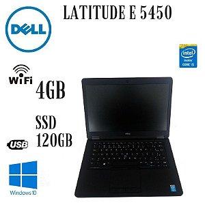 Usado: Notebook Dell UltraBook E 5450 Core i5 4gb SSd 120gb Wi-fi. Windows 10 Pró - Fotos Reais do Produto