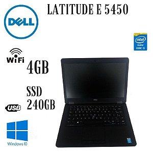 Usado: Notebook Dell Latitude E 5450 Ultrabook Intel Core i5 5200u 4gb SSd 240gb - Semi Novo