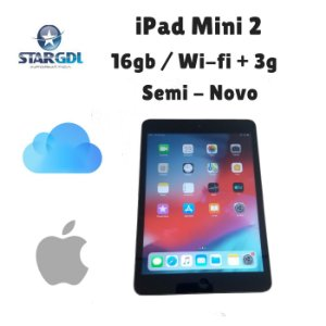Usado : Apple iPad Mini 2 ME800BR/A - 16gb Space Gray / Tela 7,9 Polegadas iOS 9
