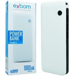 Power Bank Exbom 10000mah Novo!