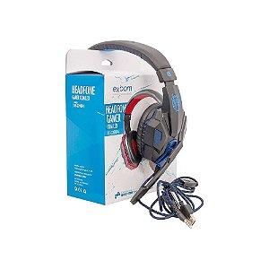 Headfone Gamer Exbom Led Hf- G390p4 C/ Microfone - Promoção!
