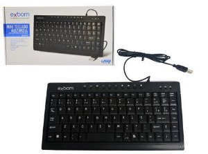 Mini Teclado multimídia Bk-m57 Exbom p/ Pc ou Notebook