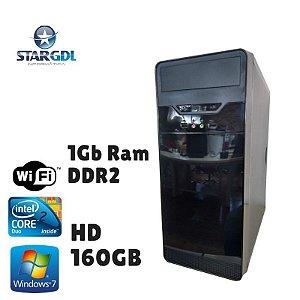 Nova: Computador Montado Intel Core 2 Duo 1Gb Hd 160gb Windows 07 + Wi -Fi