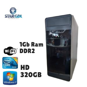 Nova: Computador Intel Core 2 Duo 1Gb Ram DDr2 HD 320gb Windows 07