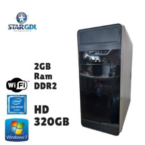 Nova: Computador Montado Intel Celeron 2GB Ram DDR2 HD 320GB Windows 07