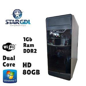 Nova: Computador Intel Dual Core 1GB Ram DDR2 HD 80GB Windows 07