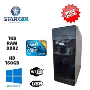 Nova: Computador Intel Core 2 Duo 1GB Ram DDR2 HD 160GB Windows 10