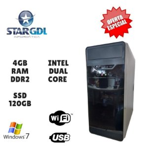 Nova: Computador Montado Proc. Intel Dual Core 4GB Ram DDR2 SSD 120GB Windows 07
