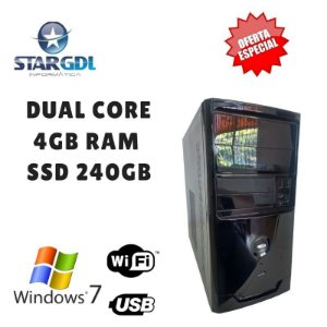 Nova: Computador Montada Proc. Intel Dual Core 4GB Ram SSD 240GB Windows 07