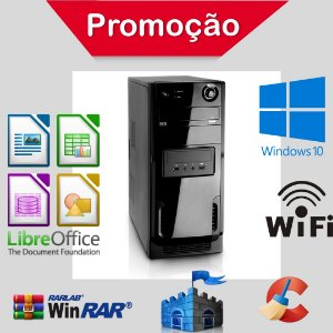 Pc Star Intel Dual Core 4gb Ram Ssd 240gb Windows 10 Pró!