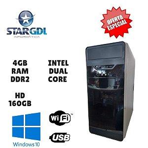 Nova : Computador Montado Proc. Intel Dual Core 4GB Ram DDR2 HD 160GB  Windows 10
