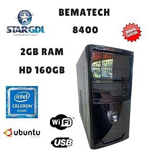Nova : Computador Montado Bematech 8400 Proc. Intel Celeron J1800 2Gb Ram DDR3 HD 160Gb Linux Ubuntu