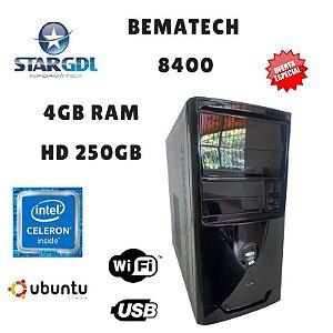 Nova: Computador Montado Bematech 8400 Proc. Intel Celeron J1800 2.41 Ghz 4GB Ram DDR3 HD 250GB Linux Ubuntu