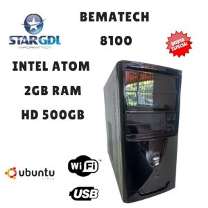 Nova: Computador Bematech 8100 Intel Atom D2500 1.8Ghz 2GB Ram DDR3 HD 500 GB Linux Ubuntu
