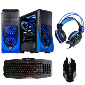 Cpu Gamer Vti i7 16gb 1tb Ssd240 Fonte 500w + Radeon Rx550