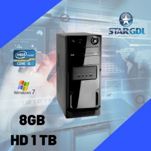 Nova: Computador Star Montada Proc. Intel Core i5 8gb Ram HD 1tb c/ Windows 7 - Mega Oferta