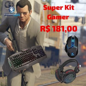 Super Kit Gamer, Teclado / Mouse / Headfone e Mouse Pad Novo