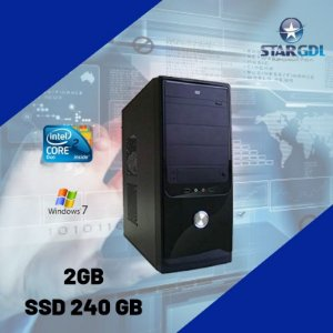 Nova: Computador Intel Core 2 Duo 2gb Ram SSd 240gb c/ Windows 7
